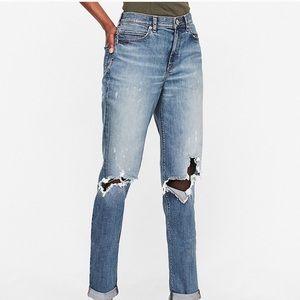 Express 12 original girlfriend jeans highwaist NWT